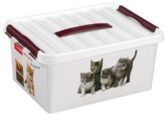 Transparante Opbergbox Sunware Q-Line Pet Decor 15L 40 X 30 X 18Cm
