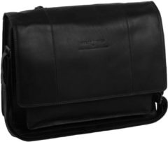 Zwarte Cowboysbag The Chesterfield Brand Gent Fietstas black Leren tas
