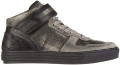 Grigio Hogan Rebel Scarpe sneakers alte uomo in pelle r206