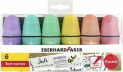 WK30Markeerstift EFA mini pastel etui 6st. (paars,blauw, groen, geel, oranje en roze)