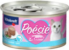 Vitakraft Poésie Mousse Blikje 85 g - Kattenvoer - Zalm - Kattenvoer