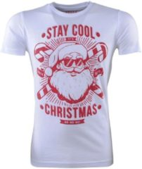 Ferlucci - Unisex Kerst T-Shirt - Ronde Hals - Stay Cool - Wit