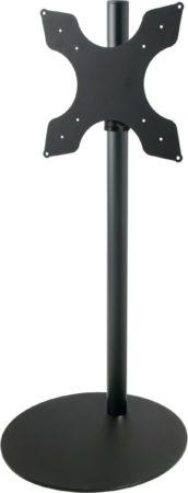 Afbeelding van Cavus zwarte vloerstandaard met zwart voet voor TV's tot 50 inch - 120 cm hoog