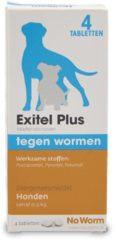 No Worm No Worm Exitel Hond Medium - Anti wormenmiddel - 4 tab Vanaf 0.5 Kg
