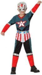 Fiesta carnavales Superhelden kapitein Amerika verkleed set / kostuum voor jongens - carnavalskleding - voordelig geprijsd 140 (10-12 jaar)