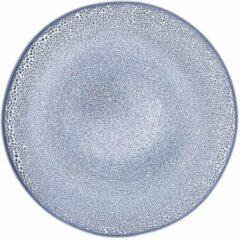 HEMA Ontbijtbord 23cm Porto Reactief Glazuur Wit/blauw