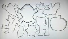 Roestvrijstalen Cutting Designz Team Up... Halloween - theme cutter set (koekvormen)