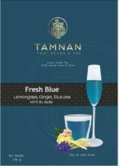 Tamnan Thai Herbs & Tea Fresh Blue - 100 gram - Cadeauverpakking - losse gezonde thee - frisse citroengras/gember/kittelbloem smaak - 100% natuurlijke kruiden