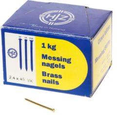 Hjz Messing nagels verloren kop 2.4 x 45mm 1kg