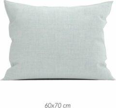 Linnenlook 2x Luxe Linenlook Kussenslopen Mint Groen | 60x70 | Fijn Geweven | Zacht En Ademend