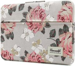 Roze Canvaslife MacBook Air/Pro Hoes / Sleeve 13 inch - White Rose