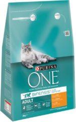 Purina One Adult Kip&Granen - Kattenvoer - 3 kg - Kattenvoer