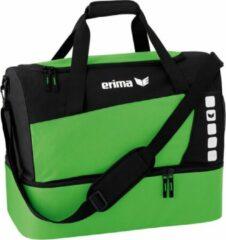 Groene Erima Club 5 Line Sporttas met Bodemvak Small - Green/Zwart