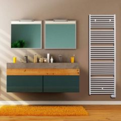 Vasco Bathline Bb-el electrische radiator 500x878 n18 500w Wit Ral 9016 113420500087800009016-0000