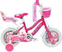 12 Zoll Mädchen Fahrrad Hoopfietsen Altec... pink
