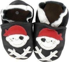 Hobea - babyslofjes - piraat - zwart