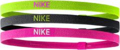 Nike Elastische Haarbanden 3stuks Volt Black Pink