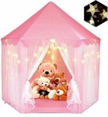 """Roze Fuegobird 55 """"x 53"""" Princess Castle Game Tent-Girls 'Playroom-Kinderspeelkamer-Indoor en Outdoor Games-Pink-Wordt geleverd met led-verlichting"""