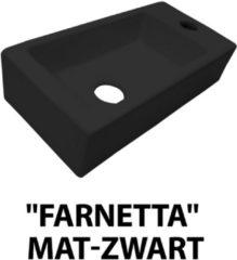 Douche Concurrent Fontein Farnetta Rechthoek Rechts 37x18x9cm Keramiek Mat Zwart