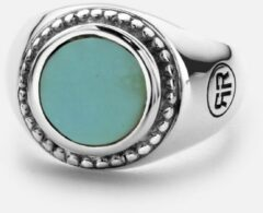Rebel & Rose Rebel and Rose RR-RG014-S Ring Women Round Turquoise zilver-turquoise Maat 59