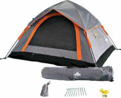 Lumaland - Pop Up tent - werptent 3 personen - 210 x 190 x 110 cm - Verkrijgbaar in verschillende kleuren - Grijs