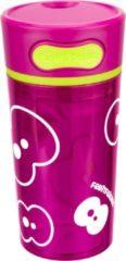 Roze Fruitfriends Drinkbeker Push - Kunststof - 300 ml - Pink