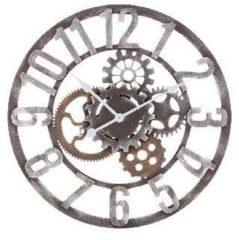 Grijze Balance Time Mecanic wandklok