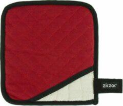 Merkloos / Sans marque ZicZac Pro Pannenlap - rood - magnetisch