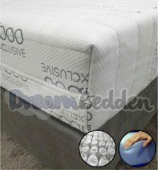 Witte Dreambedden Matras 90x220 HR55 Koudschuim 9-zones pocketvering Bamboo Exclusive Ca. 21cm Dik