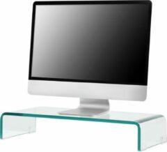 En.casa Monitorstandaard verhoger Pretoria glas 40x25x11 cm transparant