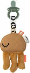 Zwarte Done by Deer Speenknuffel Cozy Keeper | Jelly Mustard