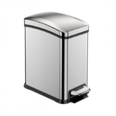 Zilveren EKO New Rejoice Step Bin pedaalemmer - 8 l - matt steel