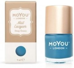 Blauwe Mo You London MoYou London Stempel Nagellak - Stamping Nail Polish 9ml. - Deep Ocean