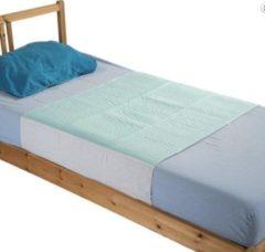 Blauwe SecoBed Matrasbeschermer Met Instopvleugels - Best Getest - Wasbaar - 5 Lagen