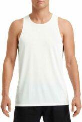 Sport hardloop singlet wit voor heren - Heren sportkleding hemd/top wit