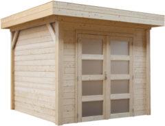 Woodvision Topvision | Blokhut Bonte specht 300 x 250 | Geimpregneerd-groen
