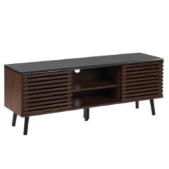Beliani PERTH - TV-meubel - Donkere houtkleur - MDF