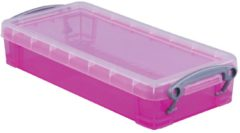 Really Useful Box opbergdoos 0,55 liter transparant roze
