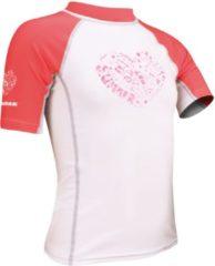Waimea UV Shirt Meisjes - Korte Mouw - Wit/Fuchsia/Grijs - 140