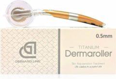 Witte Dermarolling DNS Dermaroller 192 naalden - 0.5mm titanium naalden