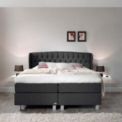 Antraciet-grijze Sleeptime Dreamhouse Nice Comfort Boxspring - Boxspring - Pocketvering - 180x200 - Antraciet