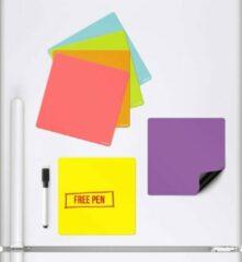 Paarse CKB Magnetische Planner - Set van 6 Gekleurde Whiteboards - Koelkast Whiteboard