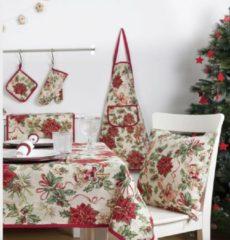 Rode Emme Boodschappentas - luxe gobelinstof - Christmas Happiness - Kerst