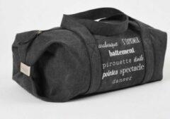 Zwarte Canvas Schoudertas - Dansez-Vous Danstas Paulo - Ballet Tas voor Dames, Heren en Kinderen