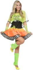 Gele Wilbers Jaren 80 & 90 Kostuum | 80s Cindy Hotlips Dansvloer Diva | Vrouw | Maat 40 | Carnaval kostuum | Verkleedkleding