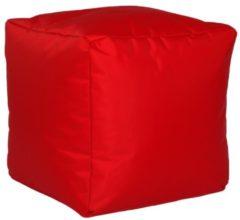 Sitzwürfel Hocker Sitzkissen Nylon rot 40x40x40 cm Linke Licardo Rot