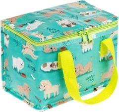 Groene Sass & Belle Lunchtasje / koeltasje puppy en hondjes