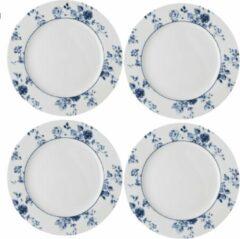Blauwe Laura Ashley set van 4 Ontbijtborden 23 cm China Rose