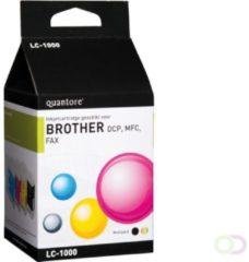Quantore Inktcartridge - Huismerk Brother LC-1000 - Zwart + Kleur ( Cyaan / Magenta / Geel )