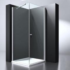 Douche Concurrent Douchecabine Erico Vierkant Draaideur 100x100x200cm Antikalk Helder Glas Chroom Profiel 6mm Veiligheidsglas Easy Clean